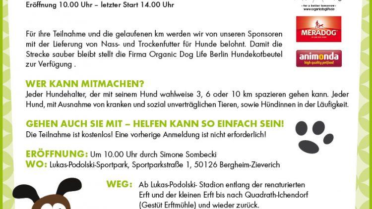 Unterstützen Sie mit uns den Dogwalk der Tiertafel Rhein-Erft e.V.